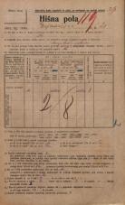 Popis prebivalstva 20. 12. 1921<br />Ljubljana<br />Erjavčeva cesta 21<br />Population census 20 December 1921