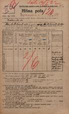 Popis prebivalstva 20. 12. 1921<br />Ljubljana<br />Erjavčeva cesta 24<br />Population census 20 December 1921