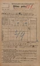 Popis prebivalstva 20. 12. 1921<br />Ljubljana<br />Erjavčeva cesta 26<br />Population census 20 December 1921