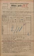 Popis prebivalstva 20. 12. 1921<br />Ljubljana<br />Erjavčeva cesta 27<br />Population census 20 December 1921