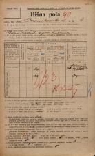 Popis prebivalstva 20. 12. 1921<br />Ljubljana<br />Frančiškanska ulica 4<br />Population census 20 December 1921