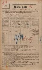 Popis prebivalstva 20. 12. 1921<br />Ljubljana<br />Frančiškanska ulica 6<br />Population census 20 December 1921