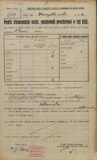 Popis prebivalstva 20. 12. 1921<br />Ljubljana<br />Frančiškanska ulica - Dunajska cesta 4<br />Population census 20 December 1921
