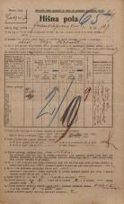 Popis prebivalstva 20. 12. 1921<br />Ljubljana<br />Frankopanska cesta 107<br />Population census 20 December 1921