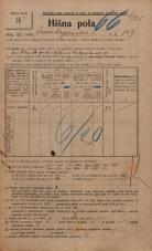 Popis prebivalstva 20. 12. 1921<br />Ljubljana<br />Frankopanska cesta 147<br />Population census 20 December 1921