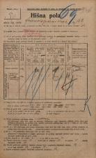 Popis prebivalstva 20. 12. 1921<br />Ljubljana<br />Frankopanska cesta 152<br />Population census 20 December 1921