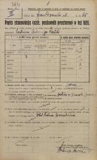 Popis prebivalstva 20. 12. 1921<br />Ljubljana<br />Frankopanska cesta 65<br />Population census 20 December 1921