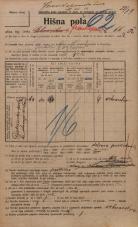 Popis prebivalstva 20. 12. 1921<br />Ljubljana<br />Frankopanska cesta 66a<br />Population census 20 December 1921