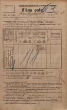 Popis prebivalstva 20. 12. 1921<br />Ljubljana<br />Frankopanska cesta 66b<br />Population census 20 December 1921