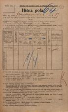 Popis prebivalstva 20. 12. 1921<br />Ljubljana<br />Frankopanska cesta 87<br />Population census 20 December 1921