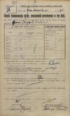 Popis prebivalstva 20. 12. 1921<br />Ljubljana<br />Frankopanska cesta 95<br />Population census 20 December 1921