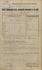 Popis prebivalstva 20. 12. 1921<br />Ljubljana<br />Frankopanska cesta - Celovška cesta 66<br />Population census 20 December 1921