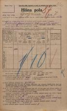 Popis prebivalstva 20. 12. 1921<br />Ljubljana<br />Galjevica 7<br />Population census 20 December 1921