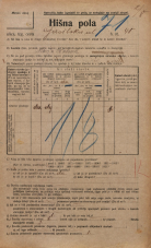 Popis prebivalstva 20. 12. 1921<br />Ljubljana<br />Gasilska cesta 40<br />Population census 20 December 1921