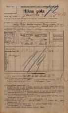Popis prebivalstva 20. 12. 1921<br />Ljubljana<br />Gasilska cesta 74a<br />Population census 20 December 1921