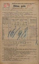 Popis prebivalstva 20. 12. 1921<br />Ljubljana<br />Gledališka ulica 7<br />Population census 20 December 1921