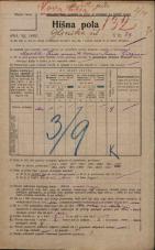 Popis prebivalstva 20. 12. 1921<br />Ljubljana<br />Glinska ulica 27<br />Population census 20 December 1921