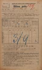 Popis prebivalstva 20. 12. 1921<br />Ljubljana<br />Glinska ulica 3<br />Population census 20 December 1921