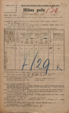 Popis prebivalstva 20. 12. 1921<br />Ljubljana<br />Glinska ulica 5<br />Population census 20 December 1921