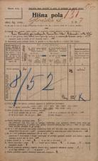 Popis prebivalstva 20. 12. 1921<br />Ljubljana<br />Glinska ulica 7<br />Population census 20 December 1921