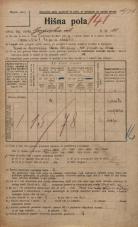 Popis prebivalstva 20. 12. 1921<br />Ljubljana<br />Gosposka ulica 10<br />Population census 20 December 1921