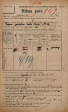 Popis prebivalstva 20. 12. 1921<br />Ljubljana<br />Gosposka ulica 12<br />Population census 20 December 1921