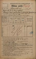 Popis prebivalstva 20. 12. 1921<br />Ljubljana<br />Gosposka ulica 19<br />Population census 20 December 1921