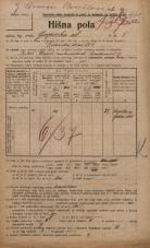 Popis prebivalstva 20. 12. 1921<br />Ljubljana<br />Gosposka ulica 5<br />Population census 20 December 1921