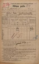 Popis prebivalstva 20. 12. 1921<br />Ljubljana<br />Gosposka ulica 8<br />Population census 20 December 1921