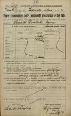 Popis prebivalstva 20. 12. 1921<br />Ljubljana<br />Gosposka ulica - Židovska ulica 4<br />Population census 20 December 1921