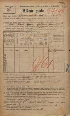 Popis prebivalstva 20. 12. 1921<br />Ljubljana<br />Gosposvetska cesta 1<br />Population census 20 December 1921