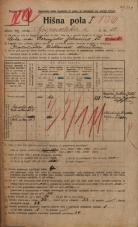 Popis prebivalstva 20. 12. 1921<br />Ljubljana<br />Gosposvetska cesta 10<br />Population census 20 December 1921