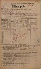 Popis prebivalstva 20. 12. 1921<br />Ljubljana<br />Gosposvetska cesta 6<br />Population census 20 December 1921