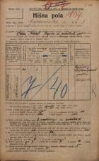 Popis prebivalstva 20. 12. 1921<br />Ljubljana<br />Gosposvetska cesta 8<br />Population census 20 December 1921