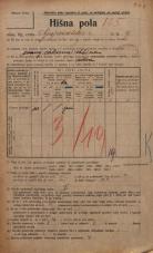 Popis prebivalstva 20. 12. 1921<br />Ljubljana<br />Gosposvetska cesta 9<br />Population census 20 December 1921