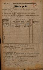 Popis prebivalstva 20. 12. 1921<br />Ljubljana<br />Gosposvetska cesta 13<br />Population census 20 December 1921