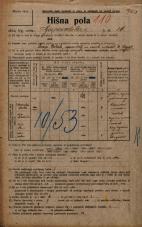 Popis prebivalstva 20. 12. 1921<br />Ljubljana<br />Gosposvetska cesta 16<br />Population census 20 December 1921