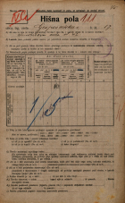 Popis prebivalstva 20. 12. 1921<br />Ljubljana<br />Gosposvetska cesta 17<br />Population census 20 December 1921