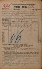 Popis prebivalstva 20. 12. 1921<br />Ljubljana<br />Gosposvetska cesta 19<br />Population census 20 December 1921