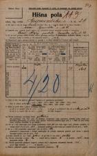 Popis prebivalstva 20. 12. 1921<br />Ljubljana<br />Gosposvetska cesta 26<br />Population census 20 December 1921