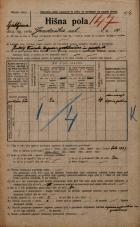 Popis prebivalstva 20. 12. 1921<br />Ljubljana<br />Gradaška ulica 10<br />Population census 20 December 1921