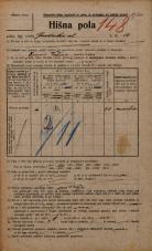 Popis prebivalstva 20. 12. 1921<br />Ljubljana<br />Gradaška ulica 12<br />Population census 20 December 1921