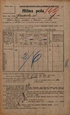 Popis prebivalstva 20. 12. 1921<br />Ljubljana<br />Gradaška ulica 14<br />Population census 20 December 1921