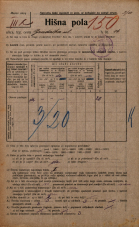 Popis prebivalstva 20. 12. 1921<br />Ljubljana<br />Gradaška ulica 16<br />Population census 20 December 1921