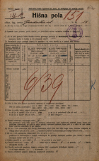 Popis prebivalstva 20. 12. 1921<br />Ljubljana<br />Gradaška ulica 18<br />Population census 20 December 1921