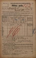 Popis prebivalstva 20. 12. 1921<br />Ljubljana<br />Gradaška ulica 22<br />Population census 20 December 1921