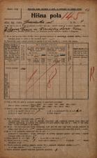 Popis prebivalstva 20. 12. 1921<br />Ljubljana<br />Gradaška ulica 4<br />Population census 20 December 1921