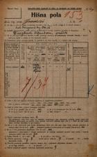 Popis prebivalstva 20. 12. 1921<br />Ljubljana<br />Gradišče 1<br />Population census 20 December 1921