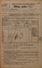 Popis prebivalstva 20. 12. 1921<br />Ljubljana<br />Gradišče 10<br />Population census 20 December 1921