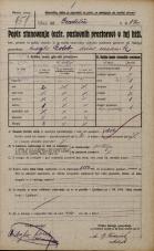 Popis prebivalstva 20. 12. 1921<br />Ljubljana<br />Gradišče 12<br />Population census 20 December 1921
